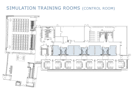 Simulation training room floorplan