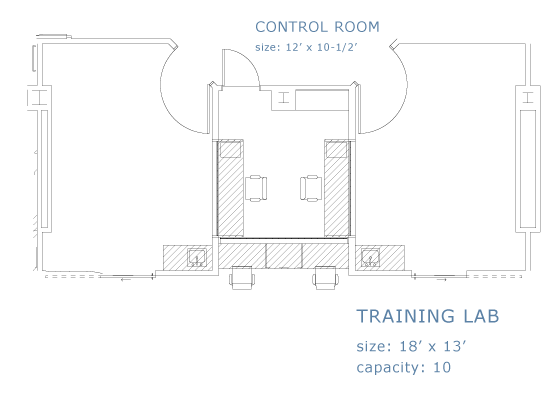 Training Lab floor plan