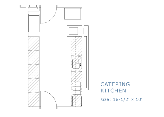 single kitchen floor plan