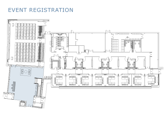 Registration floor plan